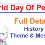 World Day Of Peace 2020, World Day Of Peace 2021, World Day Of Peace 1st January