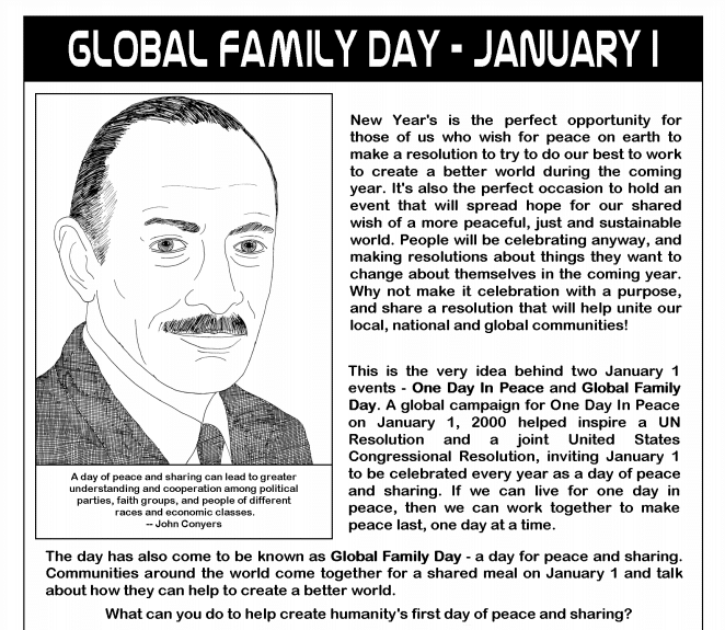 Global Family Day, Global Family Day 2020, Global Family Day History, Global Family Day Event Date, Global Family Day Celebrated On 1st January